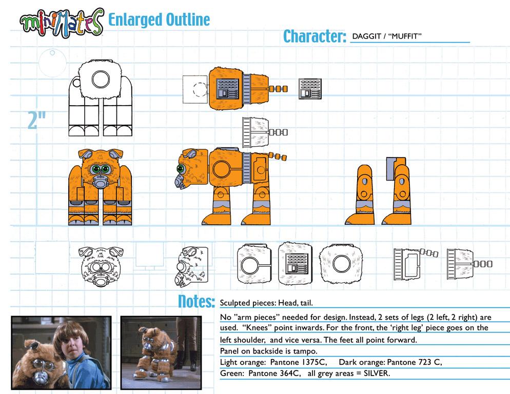 Battlestar Galactica: Muffit Minimate Design (Control Art Only) - by Matt 'Iron-Cow' Cauley