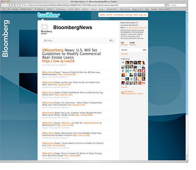Bloomberg on Twitter visual identity