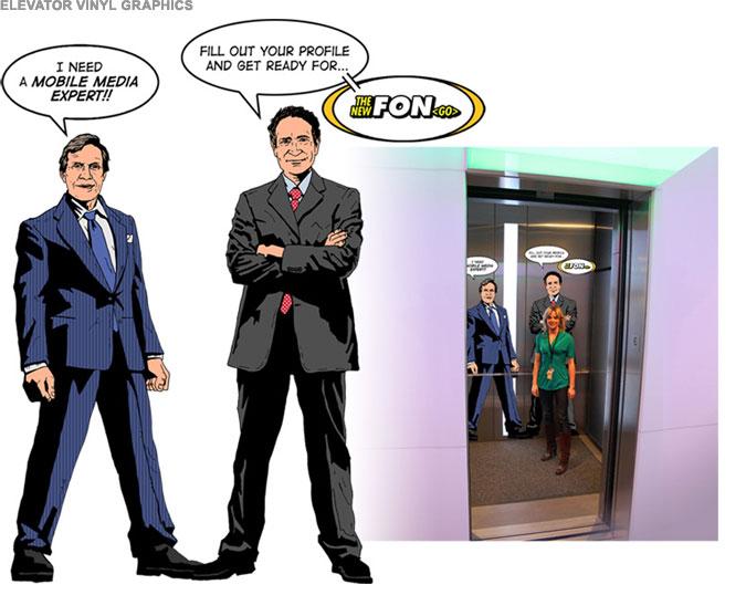 FON Campaign - Elevator Vinyl Graphics