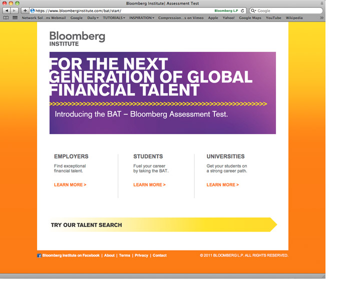Bloomberg Assessment (BAT) Website