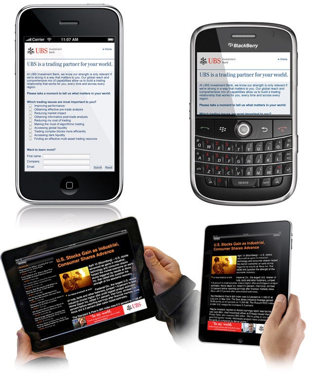 UBS Mobile Campaign and Microsite 2