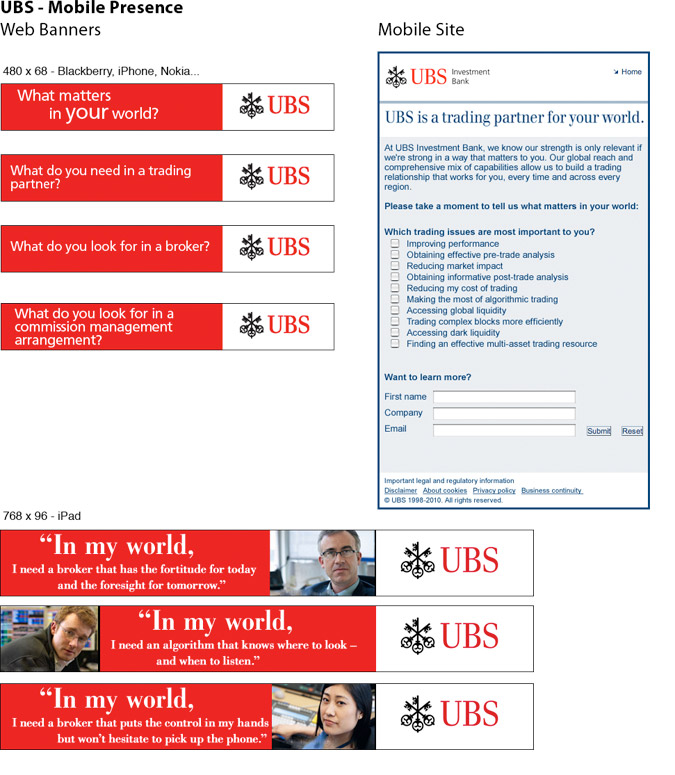 UBS Mobile Campaign and Microsite 1