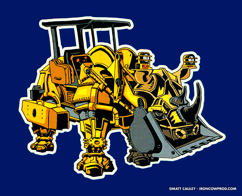 Rhinodozer - T-Shirt Illustration by Matt 'Iron-Cow' Cauley