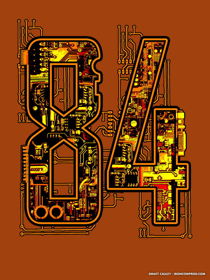 84 - T-Shirt Illustration by Matt 'Iron-Cow' Cauley