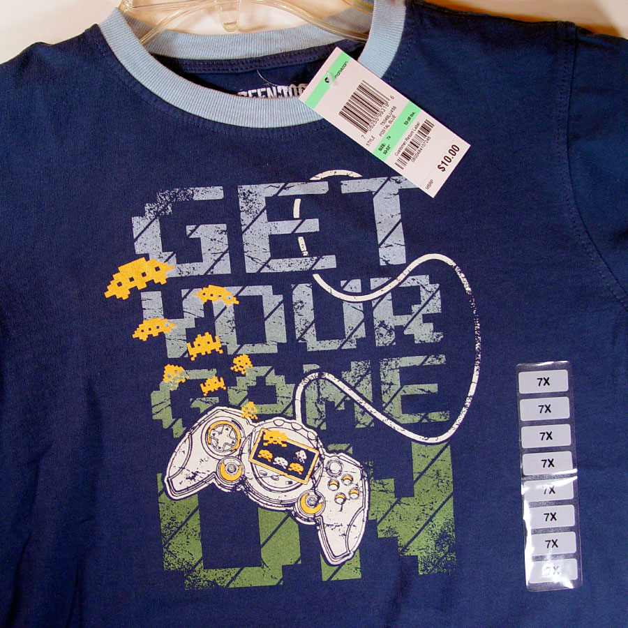 """Get Your Game On"" shirt, featuring video game controller by Matt 'Iron-Cow' Cauley"