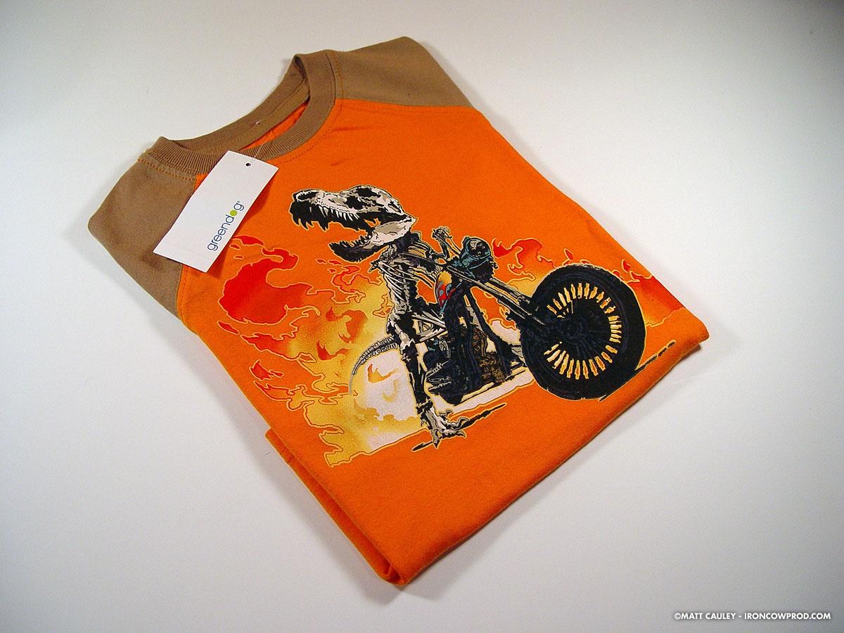 T-Rex Biker - Finished Shirt