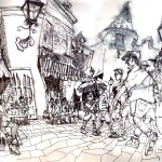 "EPCOT SKETCHBOOK by Matt 'Iron-Cow' Cauley - ""Cafe2"""