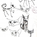 "CATS SKETCHBOOK by Matt 'Iron-Cow' Cauley - ""Cat Doodles"""