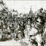 "EPCOT SKETCHBOOK by Matt 'Iron-Cow' Cauley - ""Disney Stroll"""