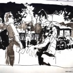 "EPCOT SKETCHBOOK by Matt 'Iron-Cow' Cauley - ""Food Cart"""
