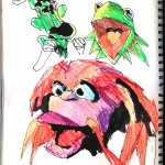 "THE RANDOM SKETCHBOOK by Matt 'Iron-Cow' Cauley - ""Muppets 1"""