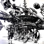 "EPCOT SKETCHBOOK by Matt 'Iron-Cow' Cauley - ""Orbiter"""