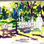 "THE CITY SKETCHBOOK by Matt 'Iron-Cow' Cauley - ""Park Afternoon"""