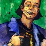 "PEOPLE SKETCHBOOK by Matt 'Iron-Cow' Cauley - ""PJ I"""