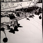 "THE CITY SKETCHBOOK by Matt 'Iron-Cow' Cauley - ""South Street Seaport #1"""