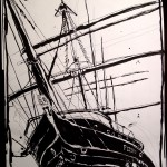 "THE CITY SKETCHBOOK by Matt 'Iron-Cow' Cauley - ""South Street Seaport #3"""