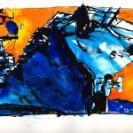 "U.S.S. INTREPID SKETCHBOOK by Matt 'Iron-Cow' Cauley - ""Sunrise"""