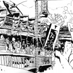 "EPCOT SKETCHBOOK by Matt 'Iron-Cow' Cauley - ""Tomorrowland"""