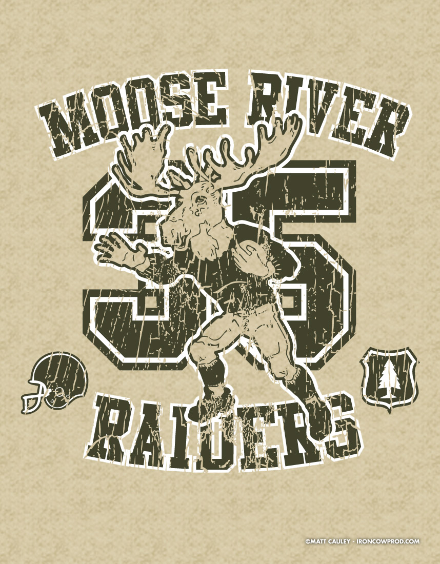 Moose River Raiders - T-Shirt Illustration by Matt 'Iron-Cow' Cauley