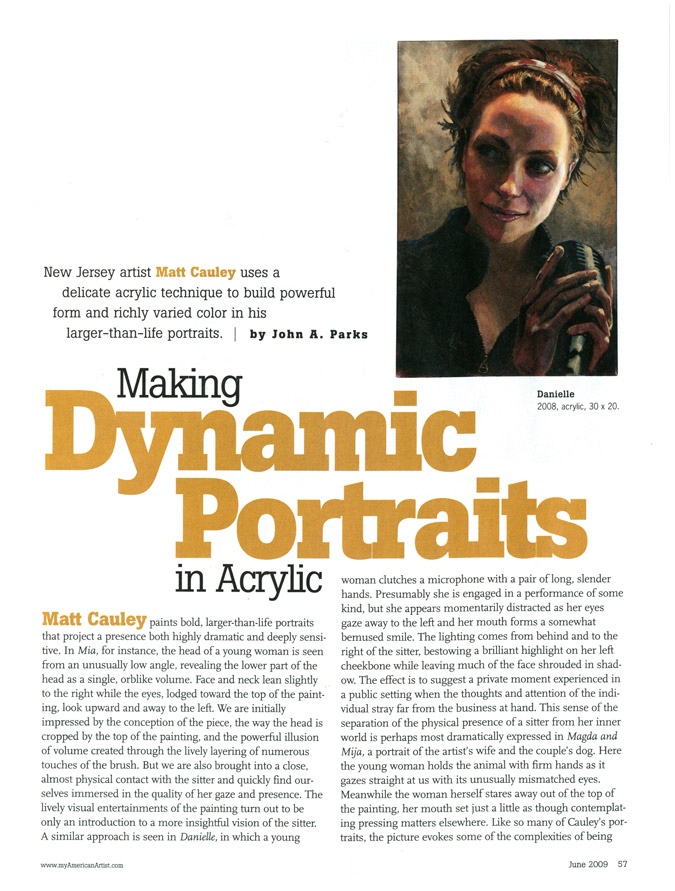 American Artist Magazine: Making Dynamic Portraits in Acrylic 3