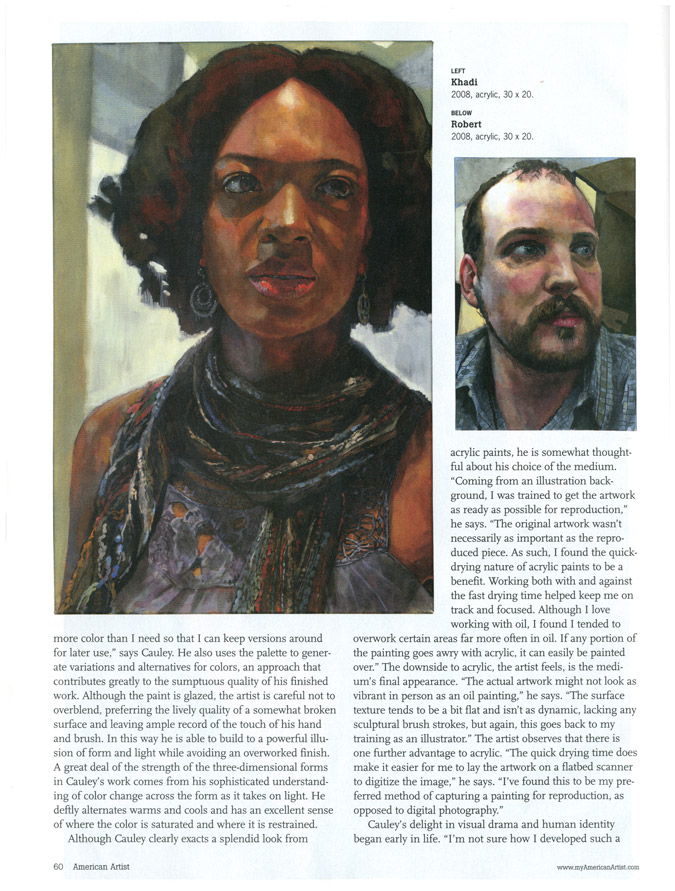 American Artist Magazine: Making Dynamic Portraits in Acrylic 6