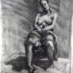 Charcoal Works: Draped Figure 2