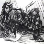 Charcoal Works: Harlequinn