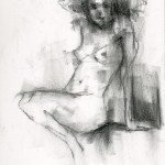 Charcoal Works: Model Seated