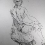 Charcoal Works: Seated Model