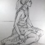 Charcoal Works: Seated Model 2