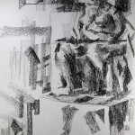 Charcoal Works: Seated Model 3