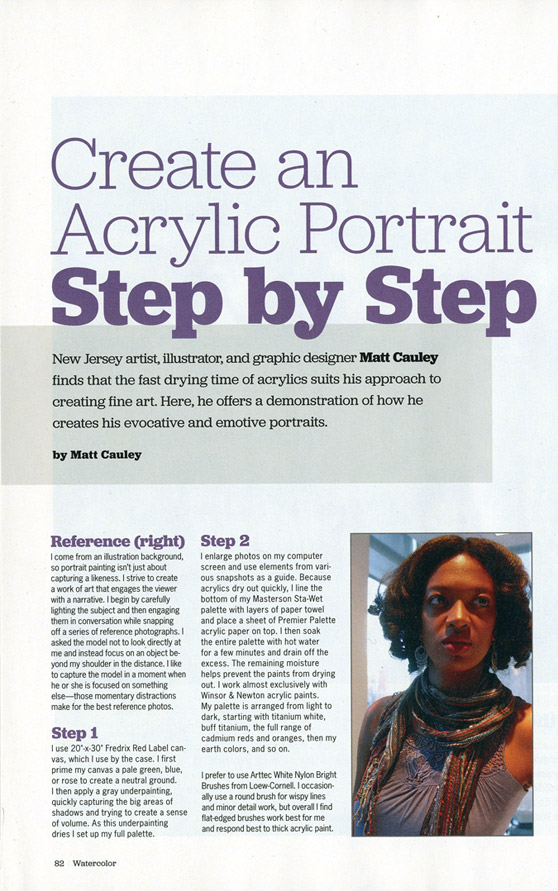 American Artist: Watercolor Magazine - Create an Acrylic Portrait Step By Step 2