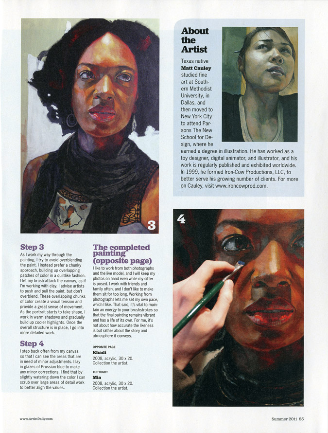 American Artist: Watercolor Magazine - Create an Acrylic Portrait Step By Step 5
