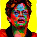 """Dilma Rousseff"" - Latin America Investing Conference Illustrations by Matt Cauley / Iron-Cow"