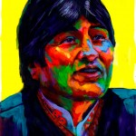 """Evo Morales"" - Latin America Investing Conference Illustrations by Matt Cauley / Iron-Cow"