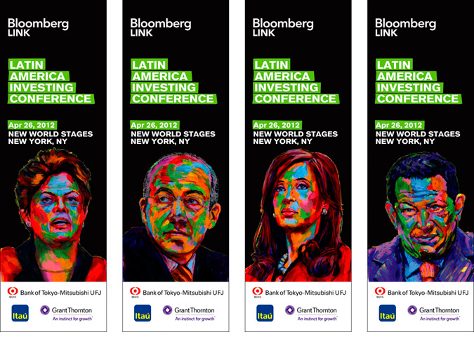 Latin America Investing Conference Banners by Matt Cauley / Iron-Cow