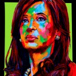 "POSTER: ""Christina Kirchner"" - Latin America Investing Conference Illustrations by Matt Cauley / Iron-Cow"