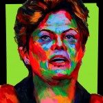 "POSTER: ""Dilma Rousseff"" - Latin America Investing Conference Illustrations by Matt Cauley / Iron-Cow"
