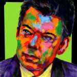 "POSTER: ""Juan Manuel Santos"" - Latin America Investing Conference Illustrations by Matt Cauley / Iron-Cow"