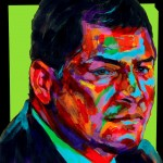 "POSTER: ""Rafael Correa"" - Latin America Investing Conference Illustrations by Matt Cauley / Iron-Cow"