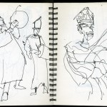 "EPCOT SKETCHBOOK by Matt 'Iron-Cow' Cauley - ""Musicians"""