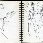 "EPCOT SKETCHBOOK by Matt 'Iron-Cow' Cauley - ""Musicians 2"""