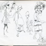 "EPCOT SKETCHBOOK by Matt 'Iron-Cow' Cauley - ""The Wackies"""