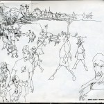 "EPCOT SKETCHBOOK by Matt 'Iron-Cow' Cauley - ""Visitors 2"""