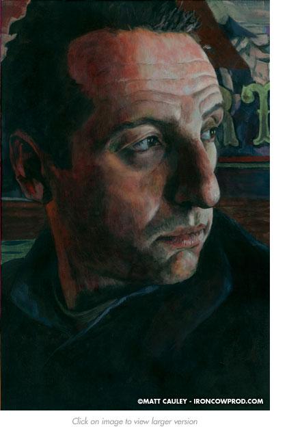 """Brett"" - Acrylic on canvas. 20 x 30 inches. Painted 2012 by Matt Cauley"