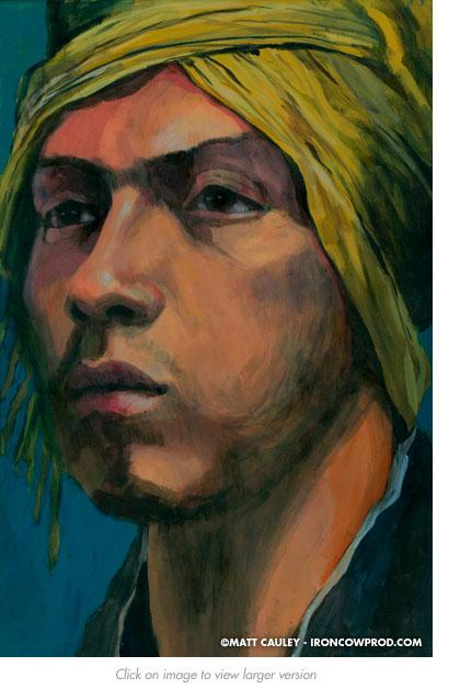 """Cesar"" - Acrylic on canvas. 20 x 30 inches. Painted 2012 by Matt Cauley"