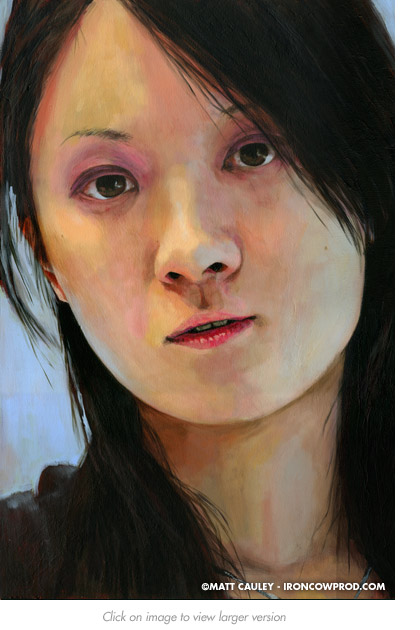 """""""Judy"""" - Acrylic on canvas. 20 x 30 inches. Painted 2012 by Matt Cauley"""