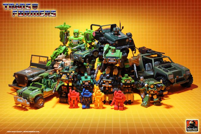 Transformers Autobot HOUND collection - Matt Iron-Cow Cauley