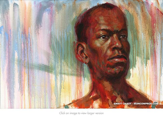 """Blane II"" Acrylic on canvas 20 x 30 inches Painted 2015 by Matt Cauley"