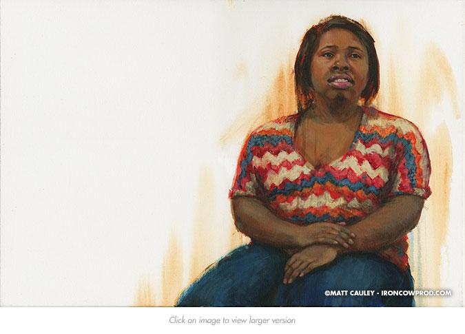 """Jo Lisa"" Acrylic on canvas 20 x 30 inches Painted 2015 by Matt Cauley"